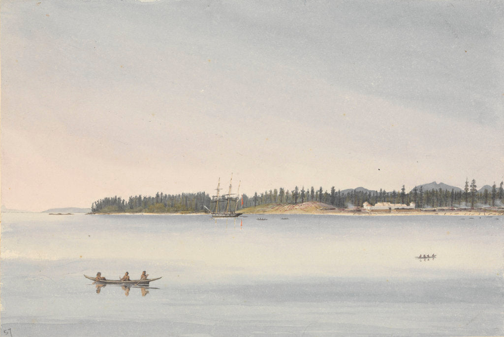 Detail of Fort Rupert, Beaver Harbour, Vancouver's Island, July 23rd 1851 [Canada] by Edward Gennys Fanshawe