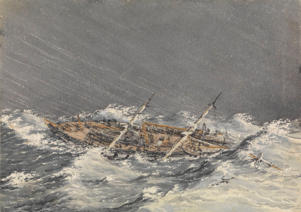 Detail of Storm at Mazatlan [Mexico], Octr 28th 1851 by Edward Gennys Fanshawe