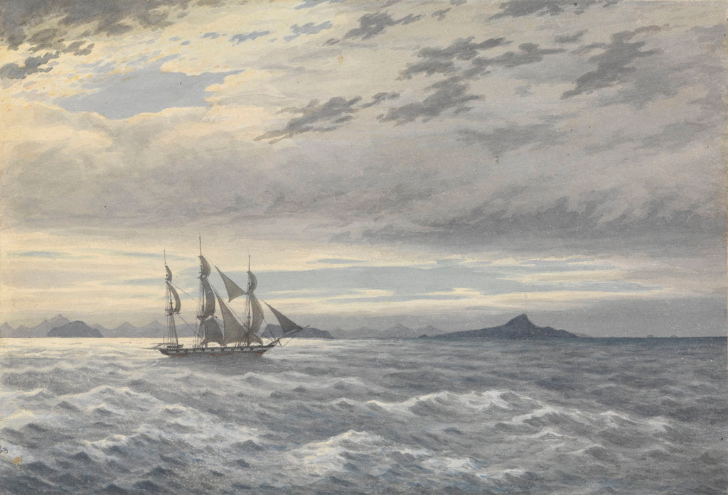 Detail of HMS 'Daphne' off Cape Horn, 28 May 1852 by Edward Gennys Fanshawe