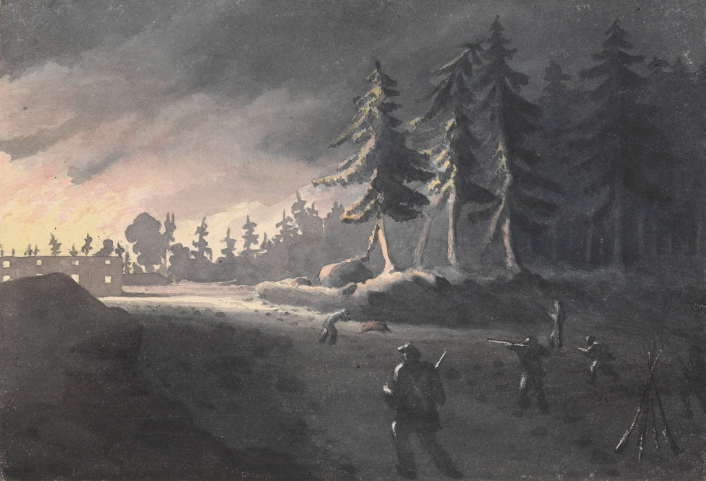 Detail of The parson and the pig: an incident at the burning of Kotka, Finland, 27 July 1855 by Edward Gennys Fanshawe