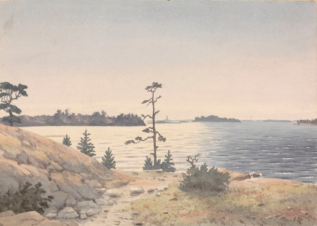 Detail of Coastal view four miles north-eastward of Reskar Lighthouse, Baro Sound, Finland by Edward Gennys Fanshawe