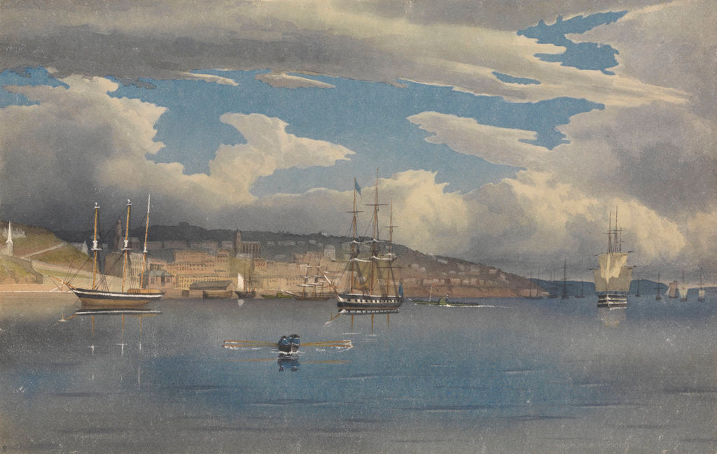 Detail of Queenstown [Cobh], Ireland, 1856 by Edward Gennys Fanshawe