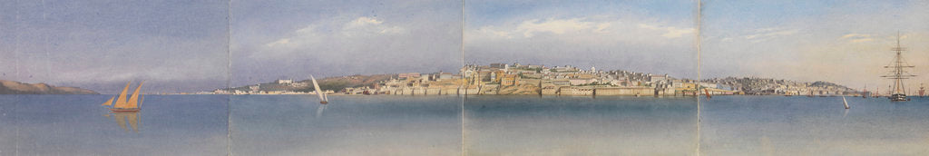 Detail of Panorama of Lisbon, Portugal, 1856 by Edward Gennys Fanshawe