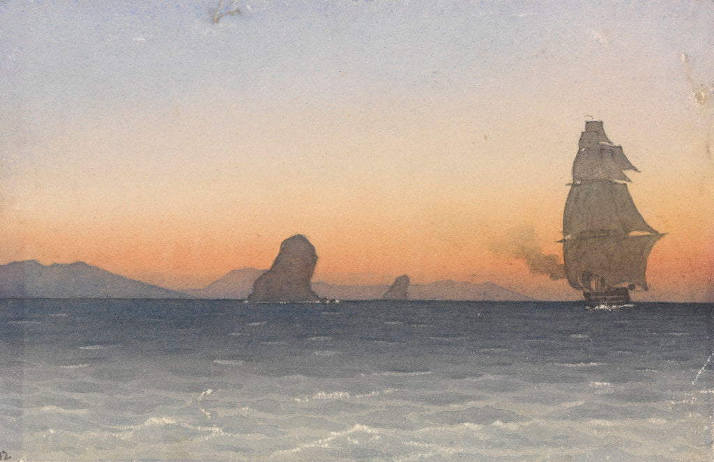 Detail of Fratelli Rocks, June 12th 1856 [Tunisia] by Edward Gennys Fanshawe