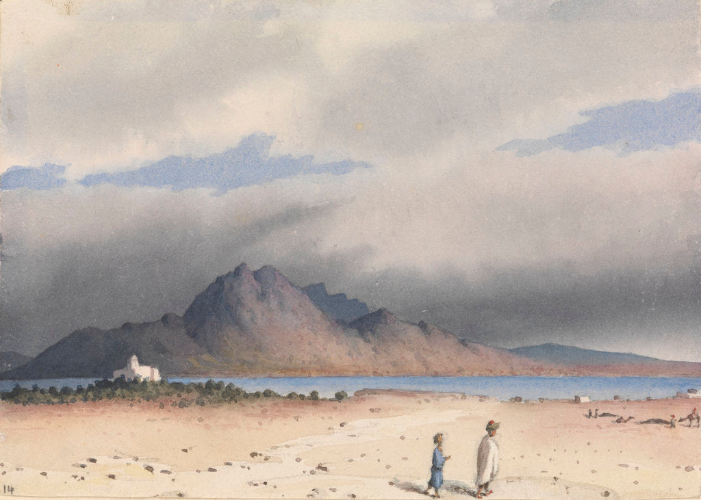 Detail of Tunis Bay, site of Carthage, June 10th 1857 [Tunisia] by Edward Gennys Fanshawe