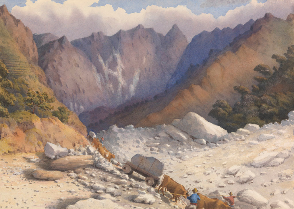 Detail of Quarries near Carrara, July 1857 [Italy] by Edward Gennys Fanshawe