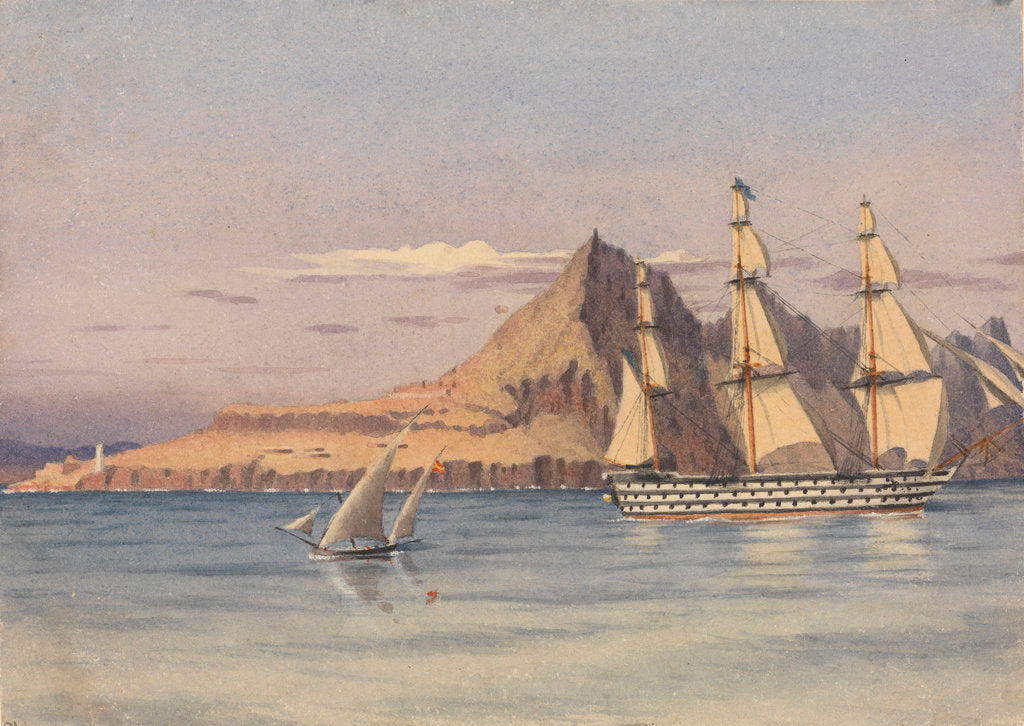 Detail of Europa Point, Gibraltar, Augt 29th 1857 by Edward Gennys Fanshawe