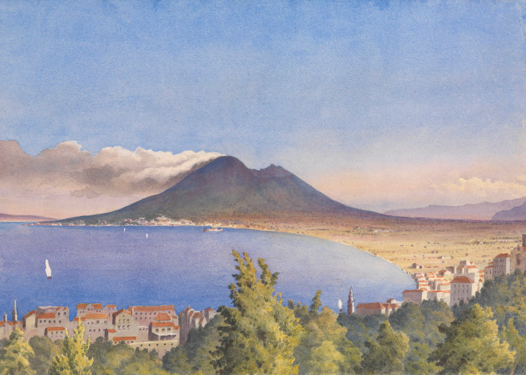Detail of Bay of Naples from Castellamare, May 1858 [Italy] by Edward Gennys Fanshawe