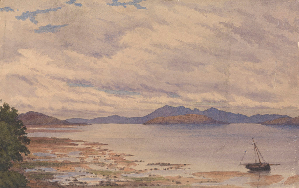 Detail of Arran and the Firth of Clyde from Fairlie, 1843 [Scotland] by Edward Gennys Fanshawe