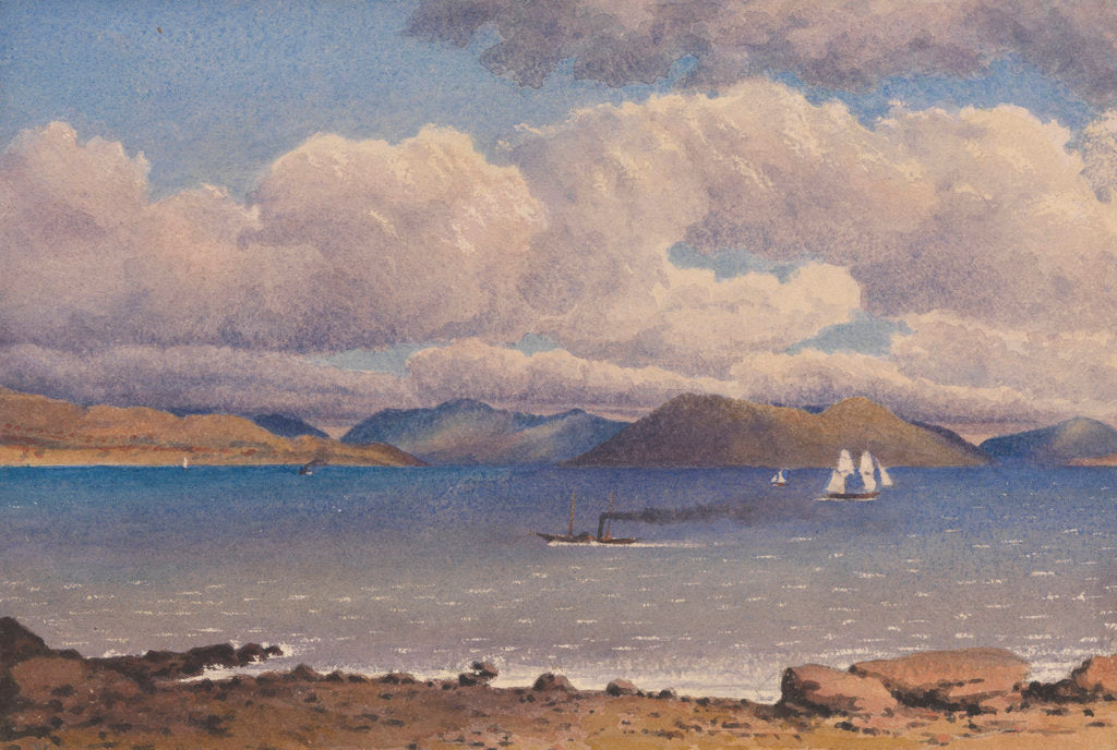 Detail of Looking across the Clyde from Gourock, 1843 [Scotland] by Edward Gennys Fanshawe