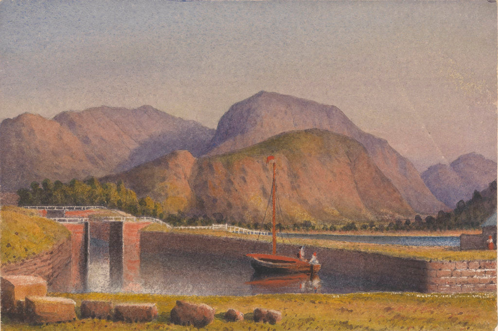 Detail of Ben Nevis, from the end of the Caledonian Canal, 1843 [Scotland] by Edward Gennys Fanshawe