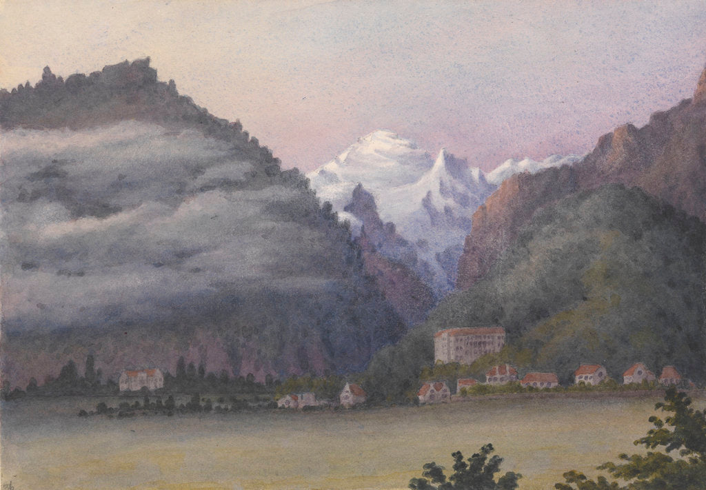 Detail of Jungfrau from Interlaken, 1877 [Switzerland] by Edward Gennys Fanshawe