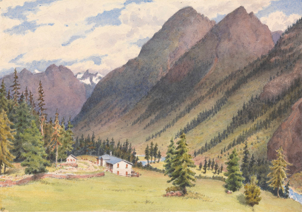 Detail of In the Val Bevers, Engadine, 1880 [Switzerland] by Edward Gennys Fanshawe