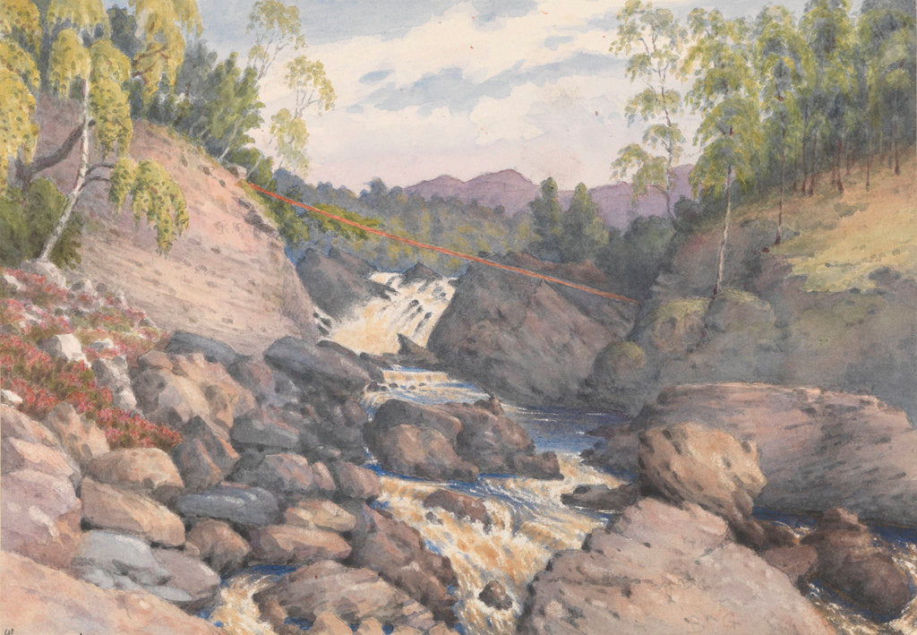 Detail of Rogie Falls, Rosshire, August 1883 [Scotland] by Edward Gennys Fanshawe