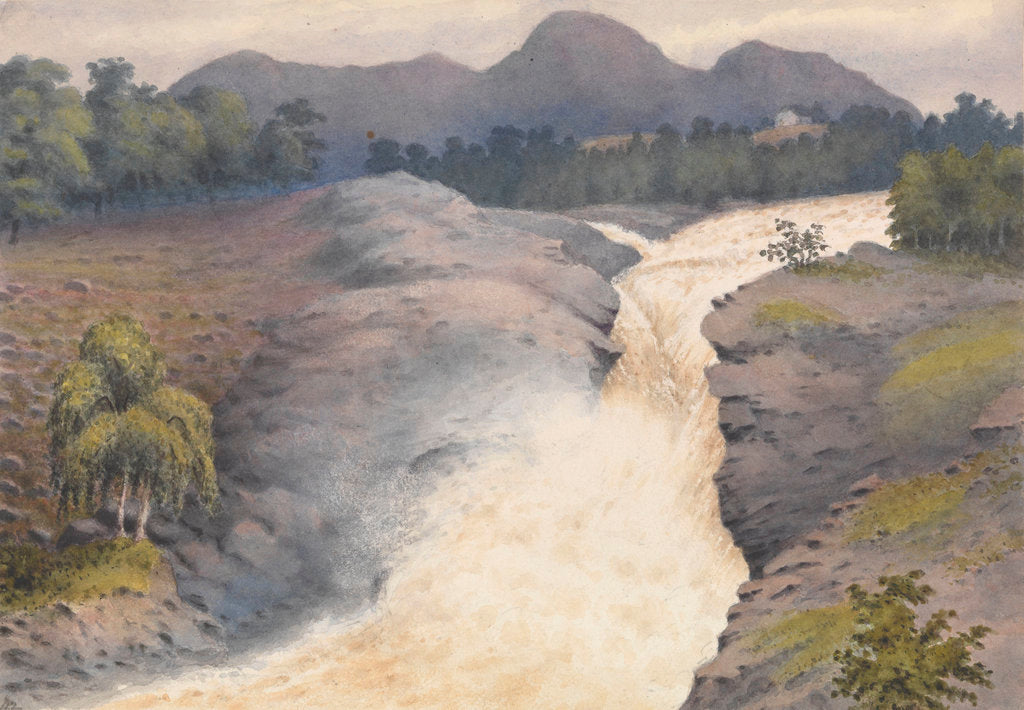 Detail of Falls of Orrin in a spate, September 3rd 1883 [Scotland] by Edward Gennys Fanshawe