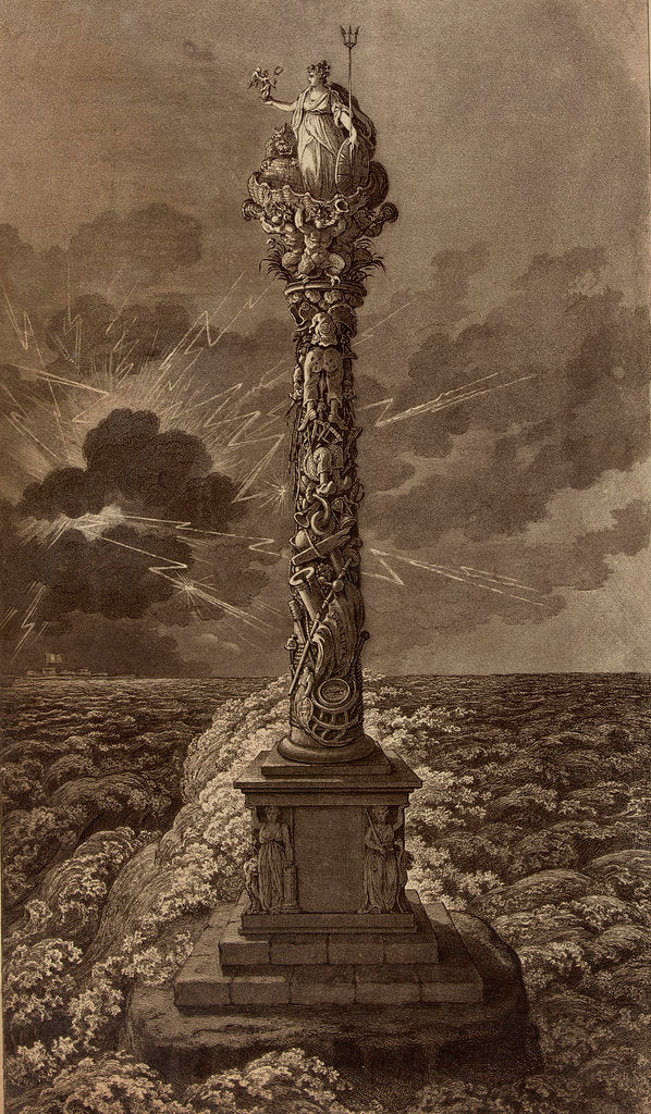 Detail of Design for a naval column by James Gillray