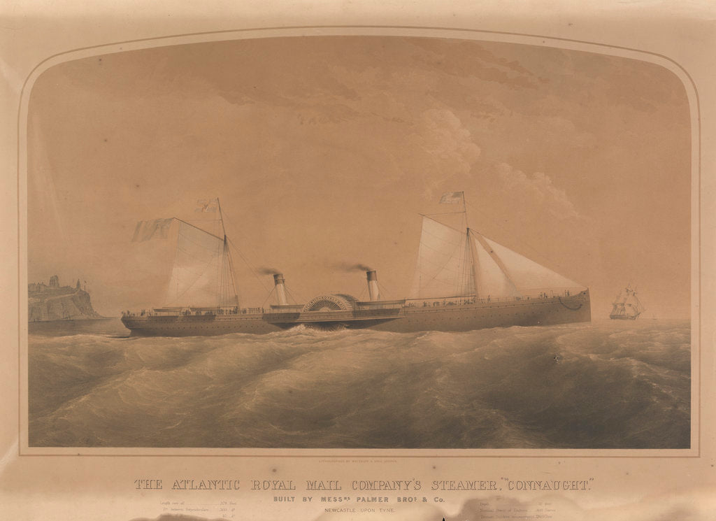 Detail of The Atlantic Royal Mail Company's steamer 'Connaught' by J. Jury