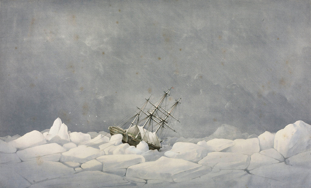 Detail of The Perilous situation of HMS 'Investigator', while wintering in the pack in 1850-1851 by S. Gurney Cresswell