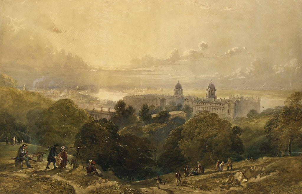 Detail of View of Greenwich from the top of Greenwich Park by David Cox Jr