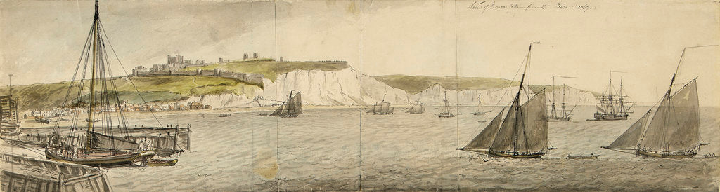 Detail of A view of Dover from the pier by Charles Gore