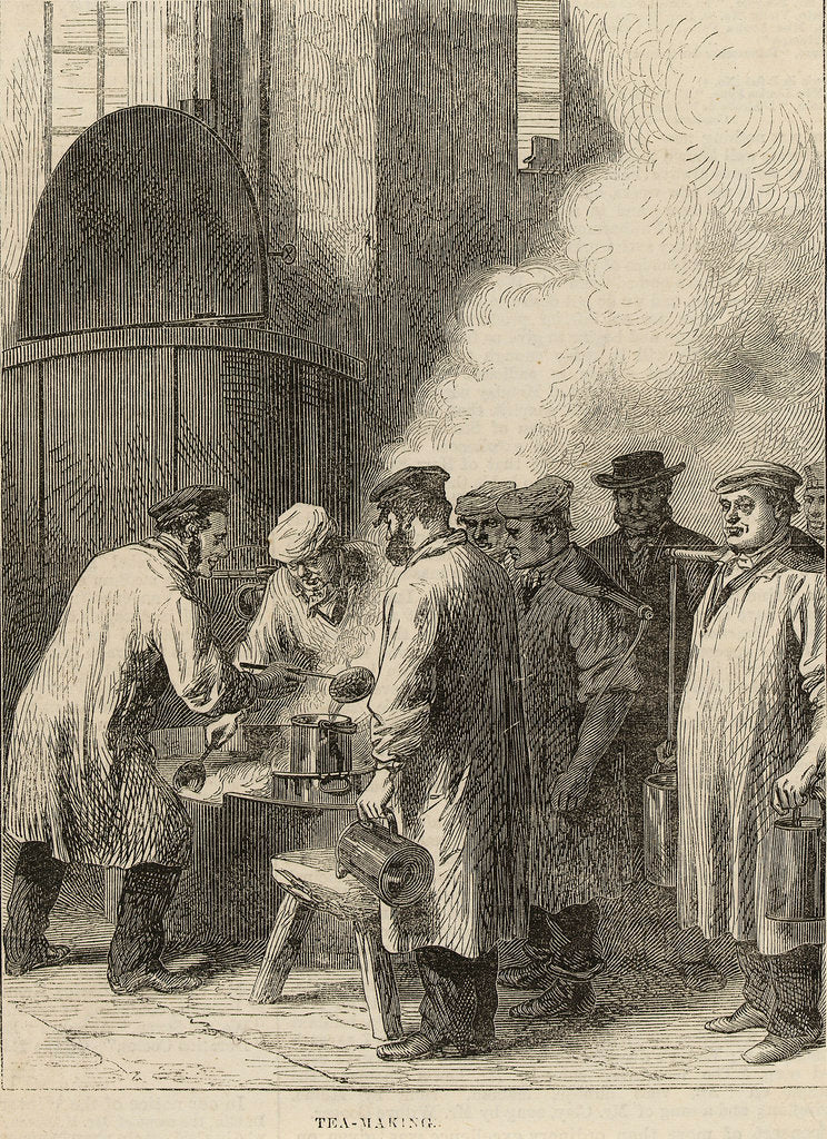 Detail of Tea Making, Greenwich Hospital by M. Jackson