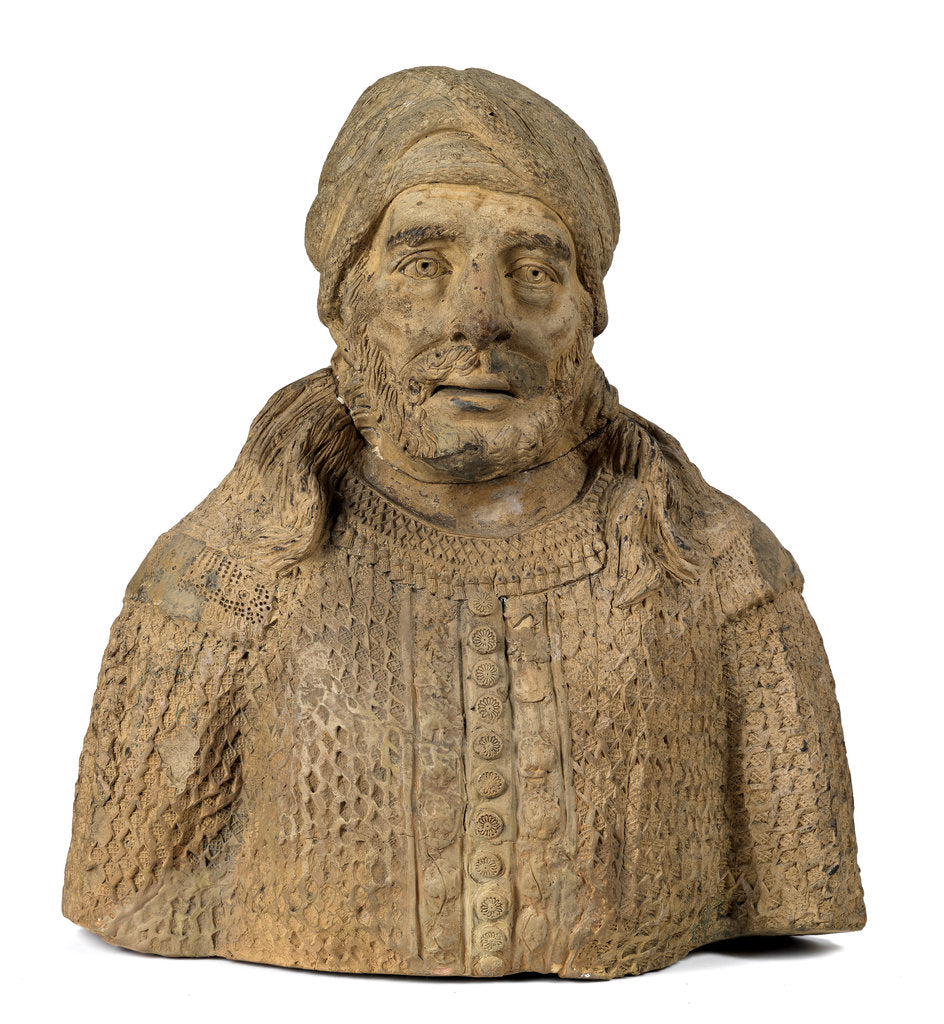 Detail of Bust of a 'Barbary pirate' by unknown