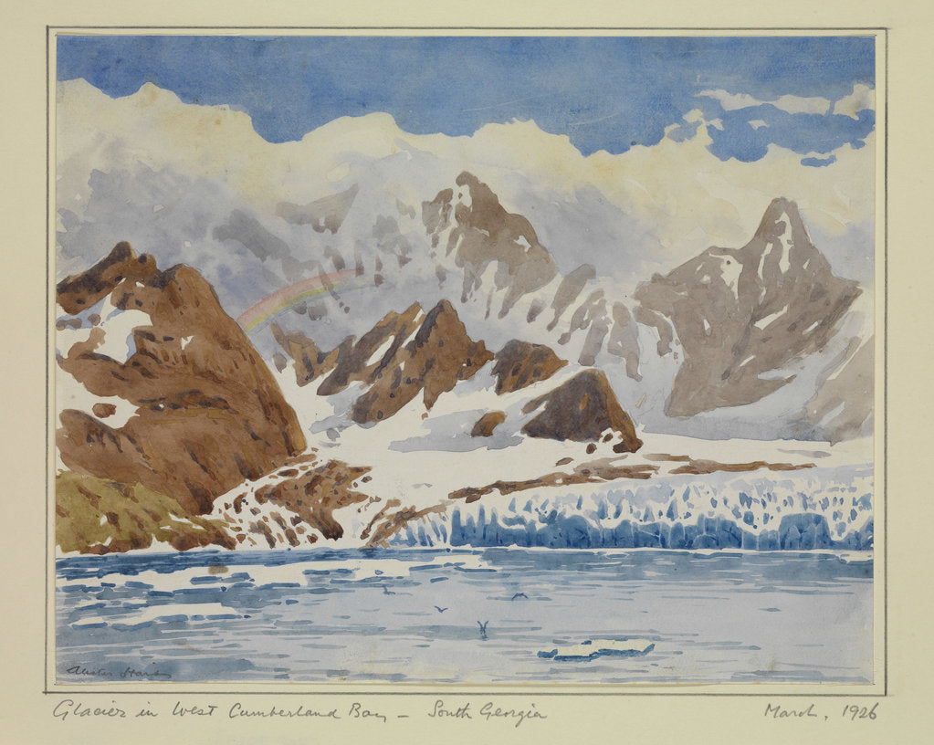Detail of Glacier in West Cumberland Bay - South Georgia, March 1926 by Sir Alister Hardy