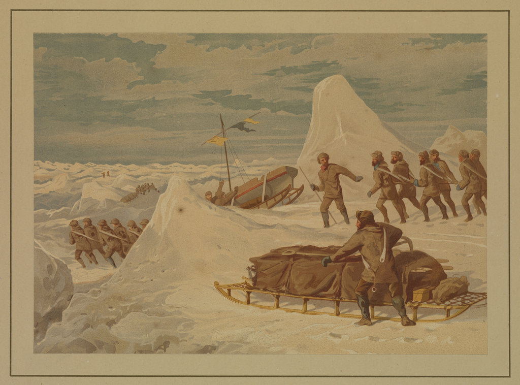 Detail of Polar Sketches. On the Northern March, April 8, 1876 by Dr Edward Lawton Moss (artist); Ward