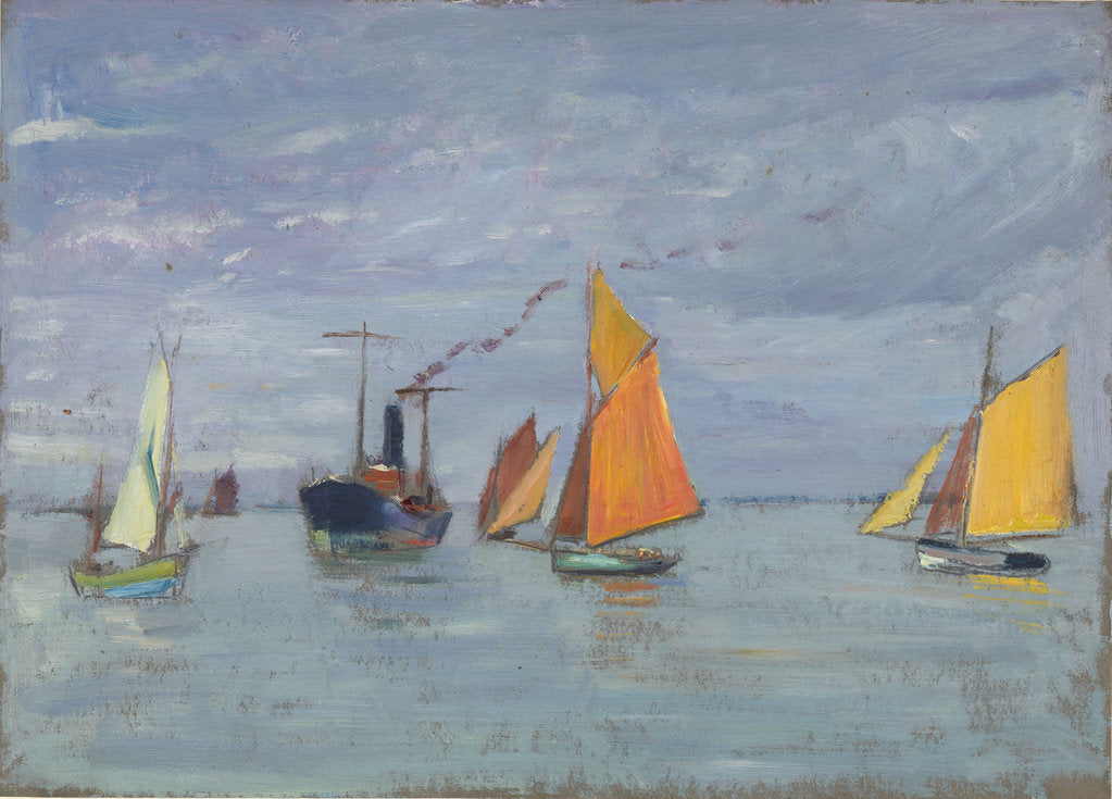 Detail of Fishing boats by John Everett