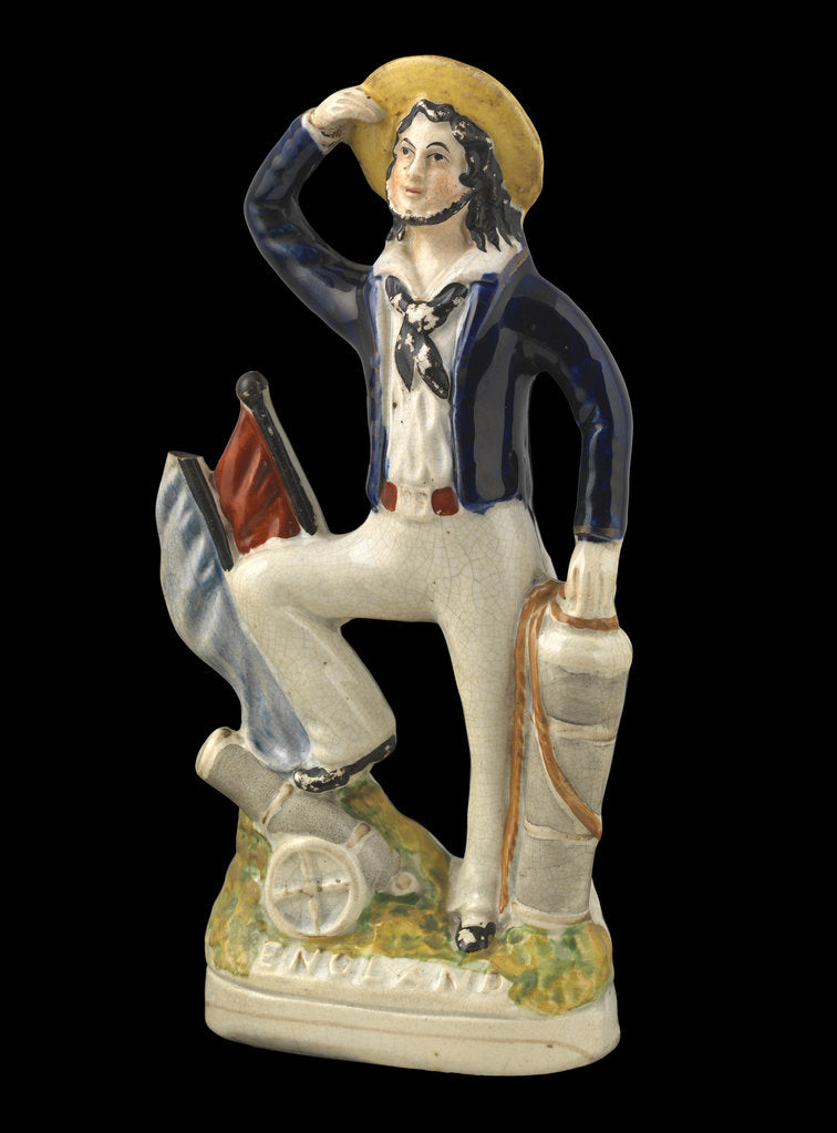 Detail of Earthenware flat-backed figure of a sailor by unknown
