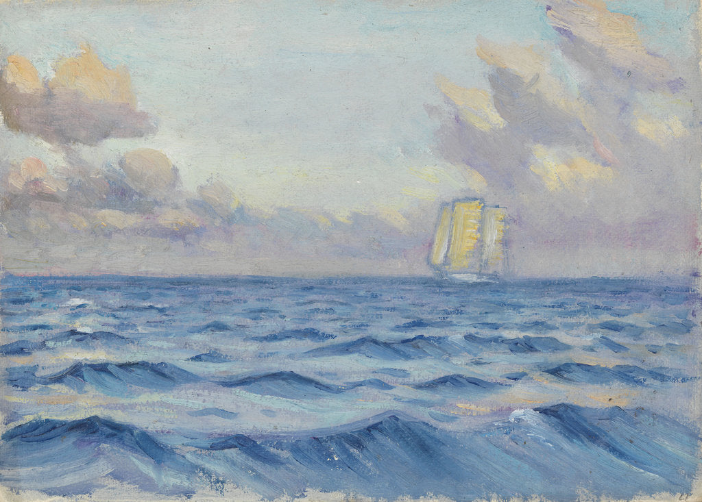 A sailing ship by John Everett