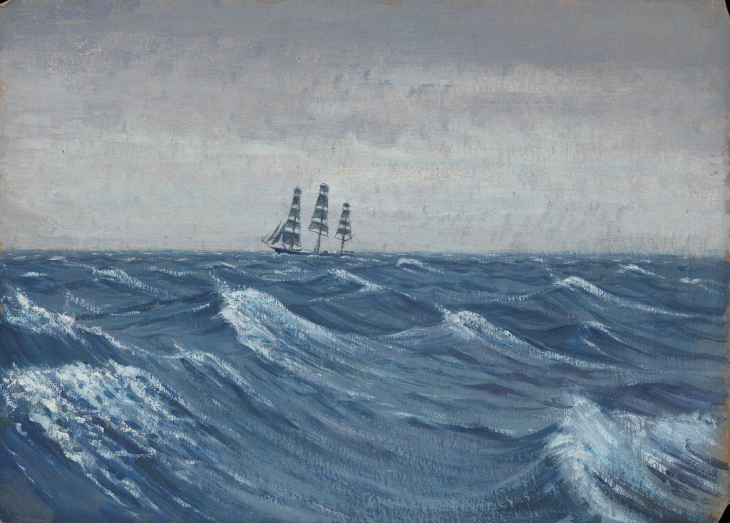 Detail of A sailing ship by John Everett