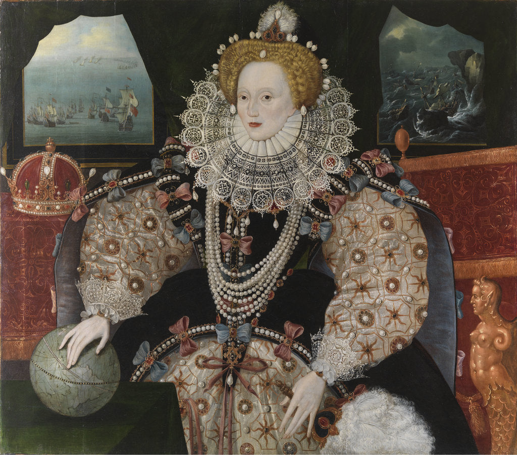 Detail of Elizabeth I, 1533-1603 (the 'Armada Portrait') by English School
