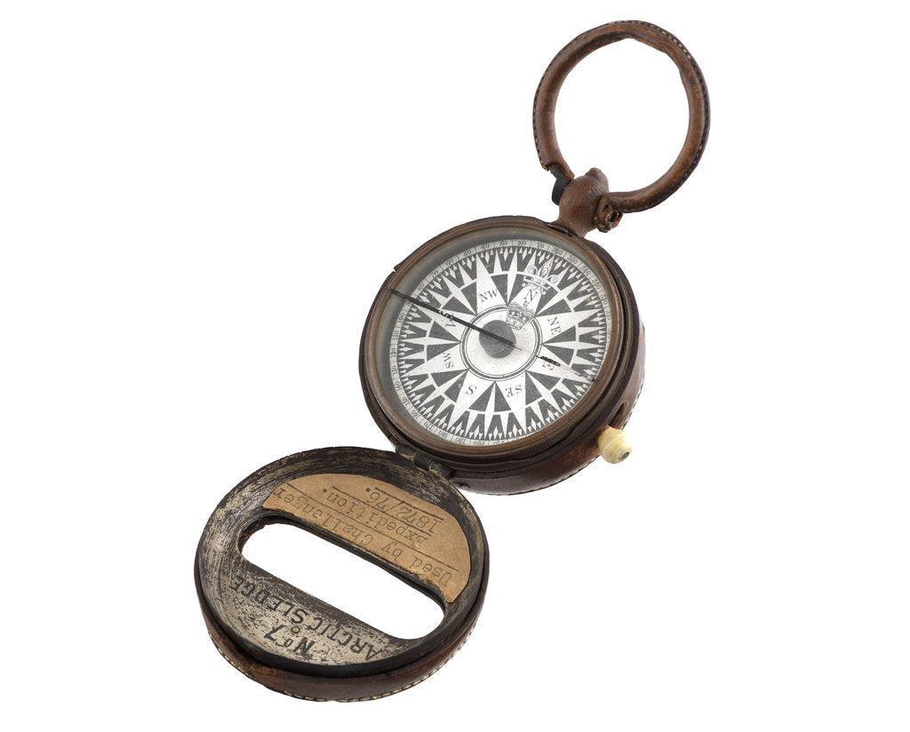 Detail of Dry card compass by Henry Barrow & Co