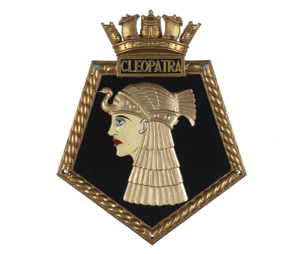 Detail of Ship's badge HMS 'Cleopatra' (1915) by unknown