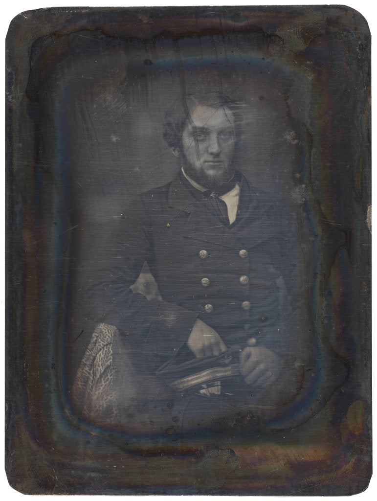 Detail of Portait of an unidentified naval officer. Fox Talbot Collection by G. Renard