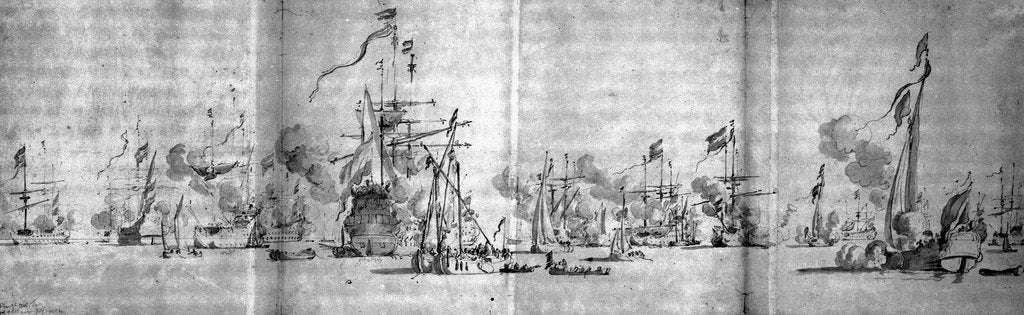 Detail of Unidentified shipping scene by unknown