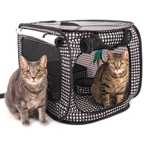 Cheering Pet Portable Pop Up Cat Cage Pet Travel Crate with Collapsible Litter Box  sc 1 st  Cheering Pet & Cheering Pet Portable Pop Up Cat Cage Pet Travel Crate with Collapsib