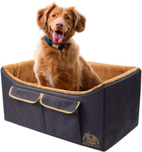 Load image into Gallery viewer, CHEERING PET Large Dog Lookout Booster seat Black and Camel