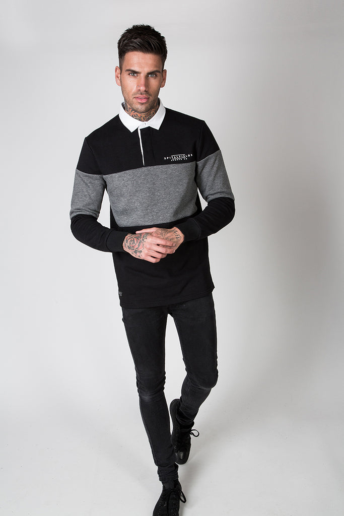 Rugby Contrast Panel Sweat Top