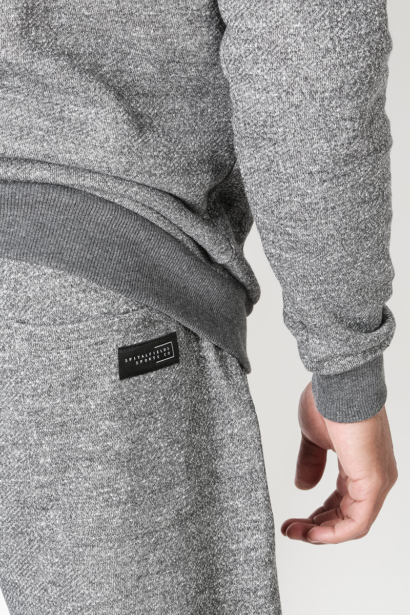 Core Sweat Shorts with Graphic Print in Grey Grindle