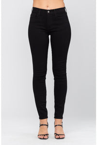 Black High-Waist Skinny