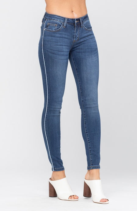 Side Pipe Mid-Rise Skinny