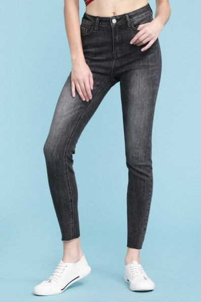 Grey High-Waist Skinny