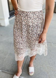 Floral Laced Skirt
