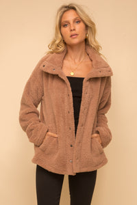 High Neck Sherpa Jacket