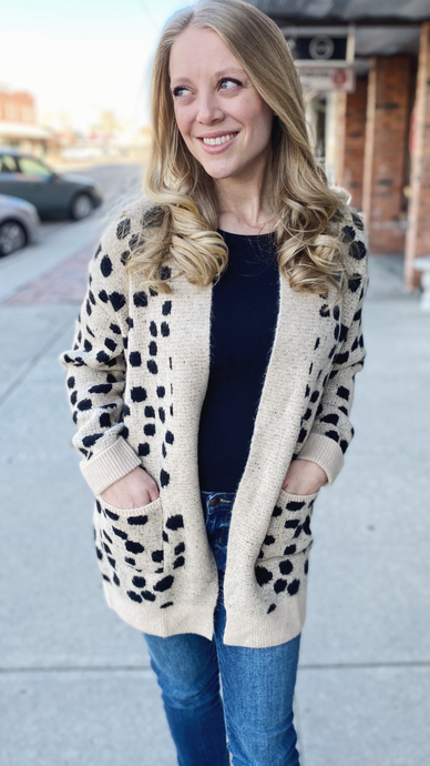 Cozy Spotted Cardigan