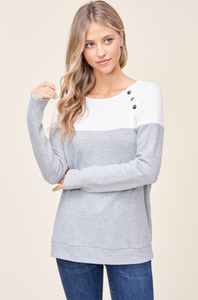 Ariella Button Long Sleeve