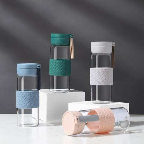 Compact Glass Water Bottle
