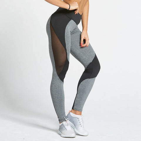 Black and Grey Mesh Leggings